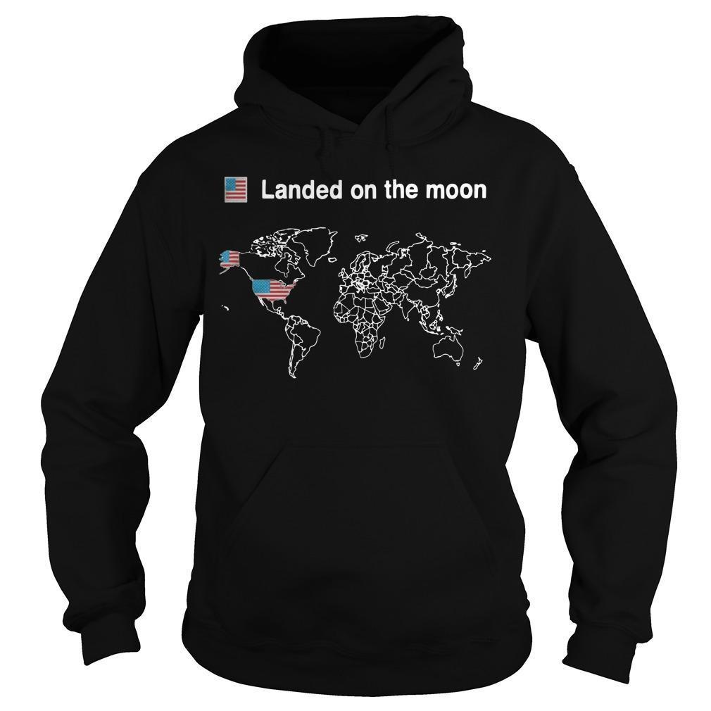 American Landed On The Moon Hoodie