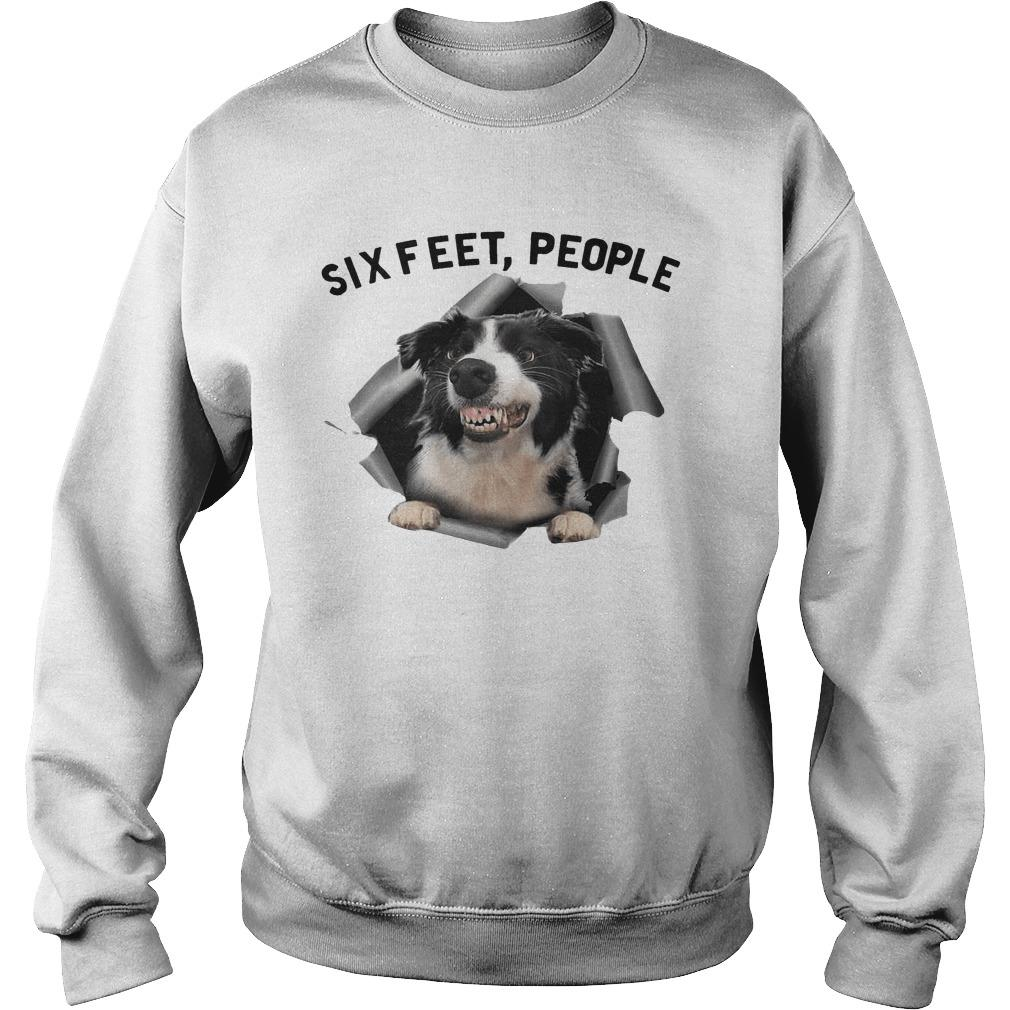 Angry Border Collie Six Feet People Sweater