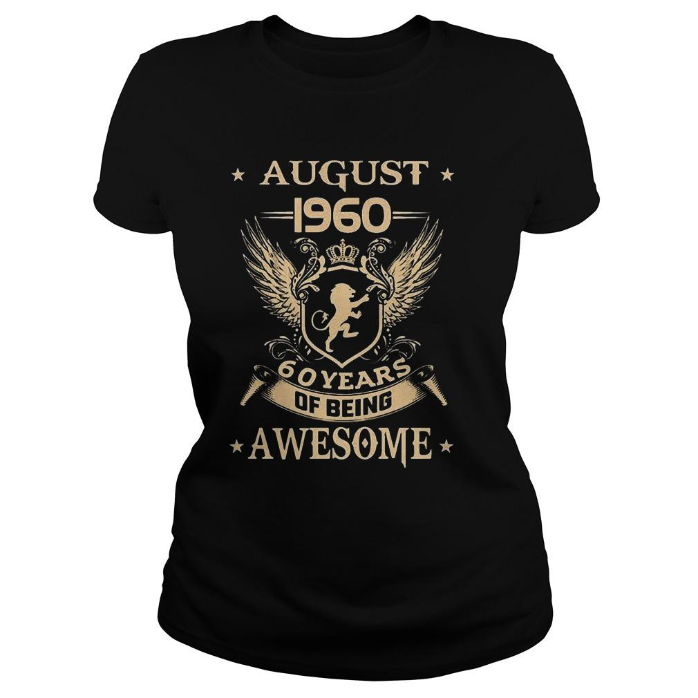 August 1960 60 Years Of Being Awesome Longsleeve