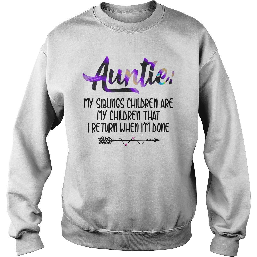 Auntie My Siblings Children Are My Children Sweater