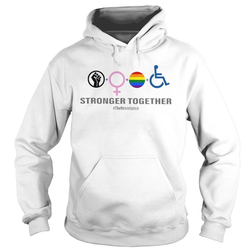 Black Woman Lgbt Stronger Together Hoodie