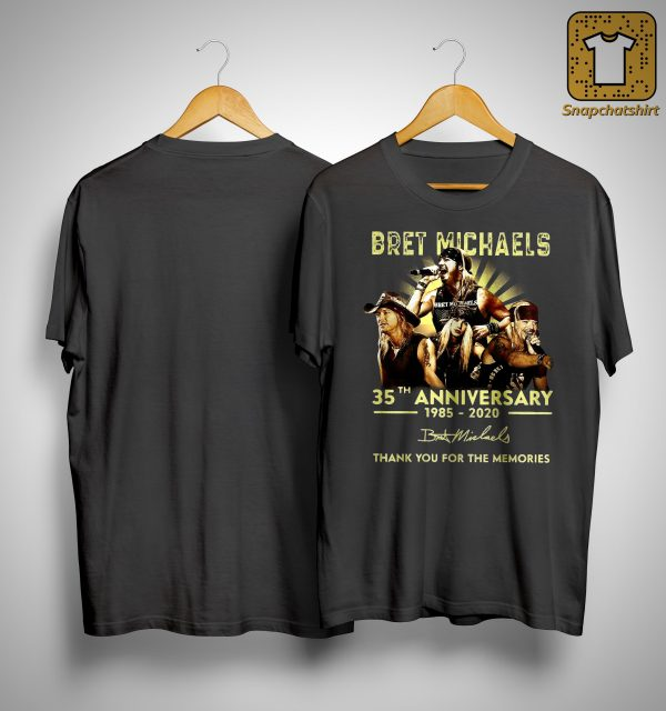 Bret Michael 35th Anniversary Thank You For The Memories Shirt