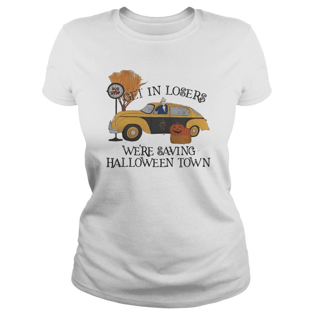 Bus Stop Get In Losers We're Saving Halloweentown Longsleeve