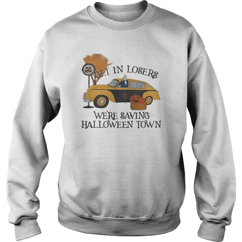 Bus Stop Get In Losers We're Saving Halloweentown Sweater