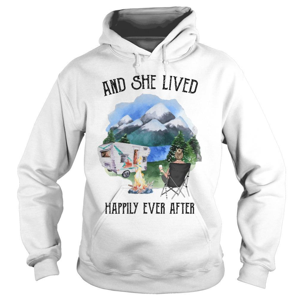 Camping And She Lived Happily Ever After Hoodie
