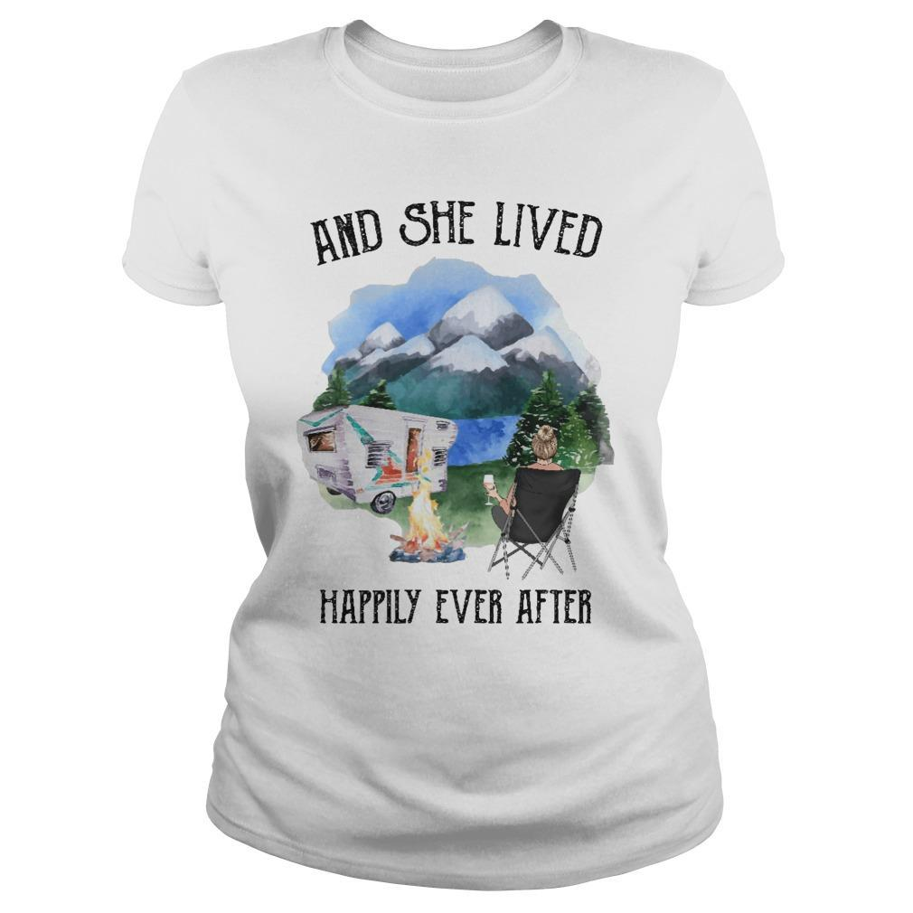 Camping And She Lived Happily Ever After Longsleeve
