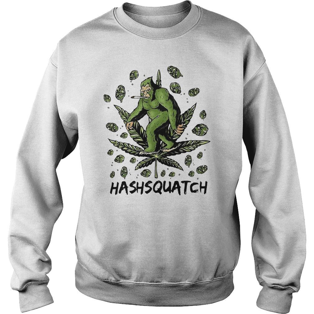 Cannabis Bigfoot Hashsquatch Sweater