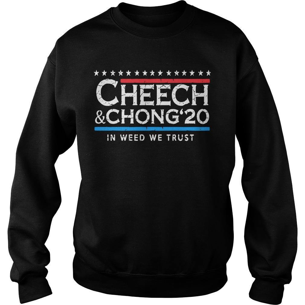 Cheech And Chong' 20 In Weed We Trust Sweater