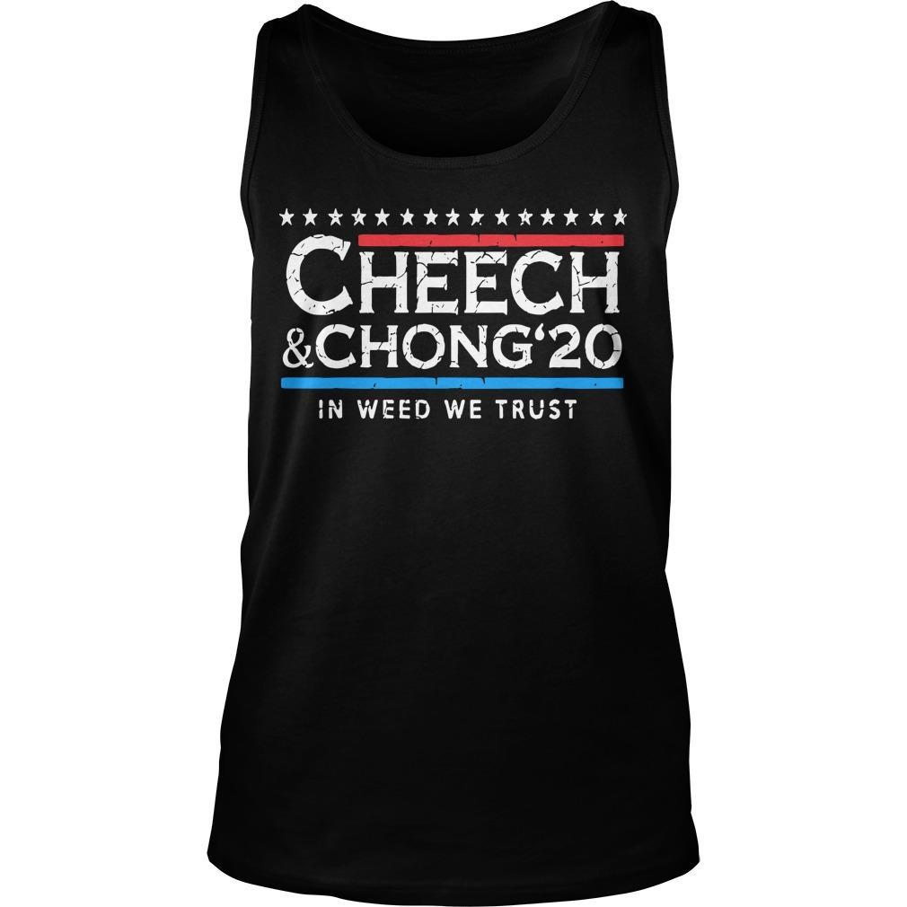 Cheech And Chong' 20 In Weed We Trust Tank Top