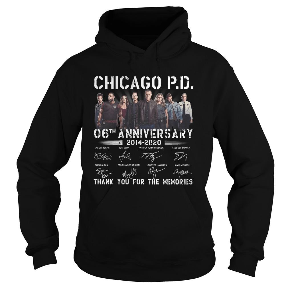 Chicago Pd 06th Anniversary Thank You For The Memories Hoodie