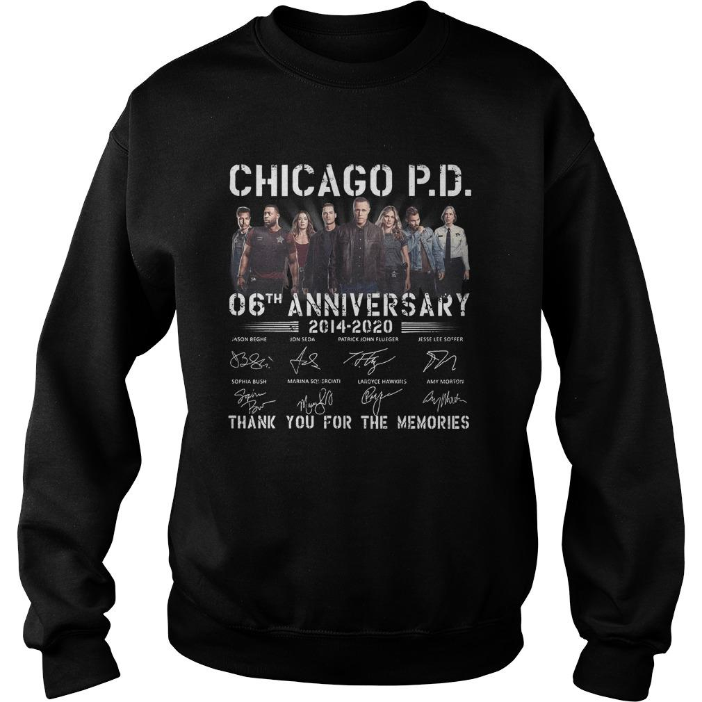 Chicago Pd 06th Anniversary Thank You For The Memories Sweater