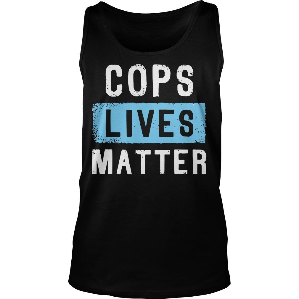 Cops Lives Matter Tank Top
