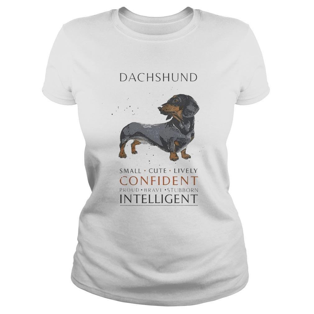 Dachshund Small Cute Lively Confident Proud Brave Stubborn Intelligent Longsleeve