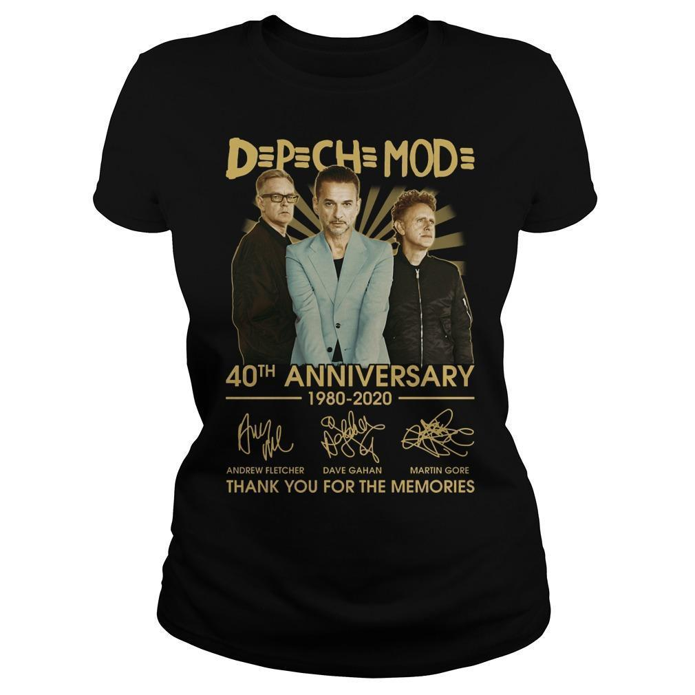 Depeche Mode 40th Anniversary 1980 2020 Thank You For The Memories Longsleeve