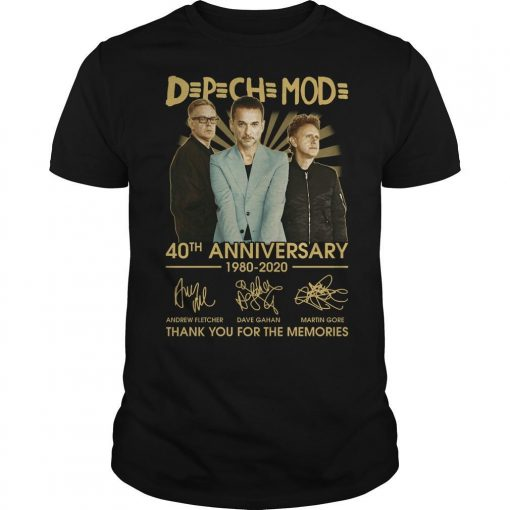 Depeche Mode 40th Anniversary 1980 2020 Thank You For The Memories Shirt