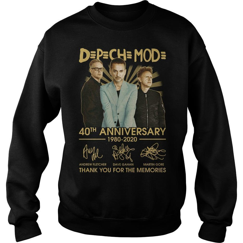 Depeche Mode 40th Anniversary 1980 2020 Thank You For The Memories Sweater