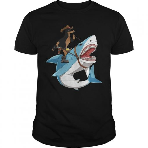 Dog Cowboys Riding Shark Shirt