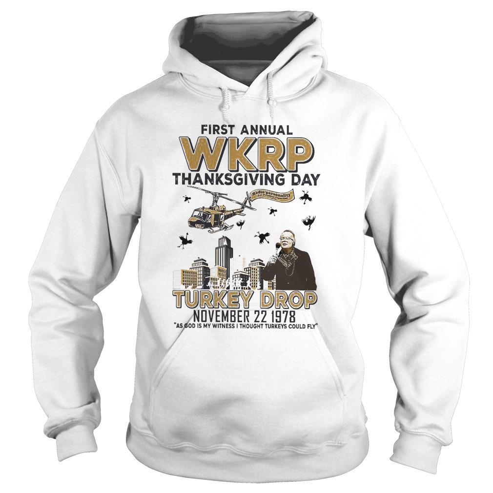 First Annual Wkrp Thanksgiving Day Turkey Drop Hoodie