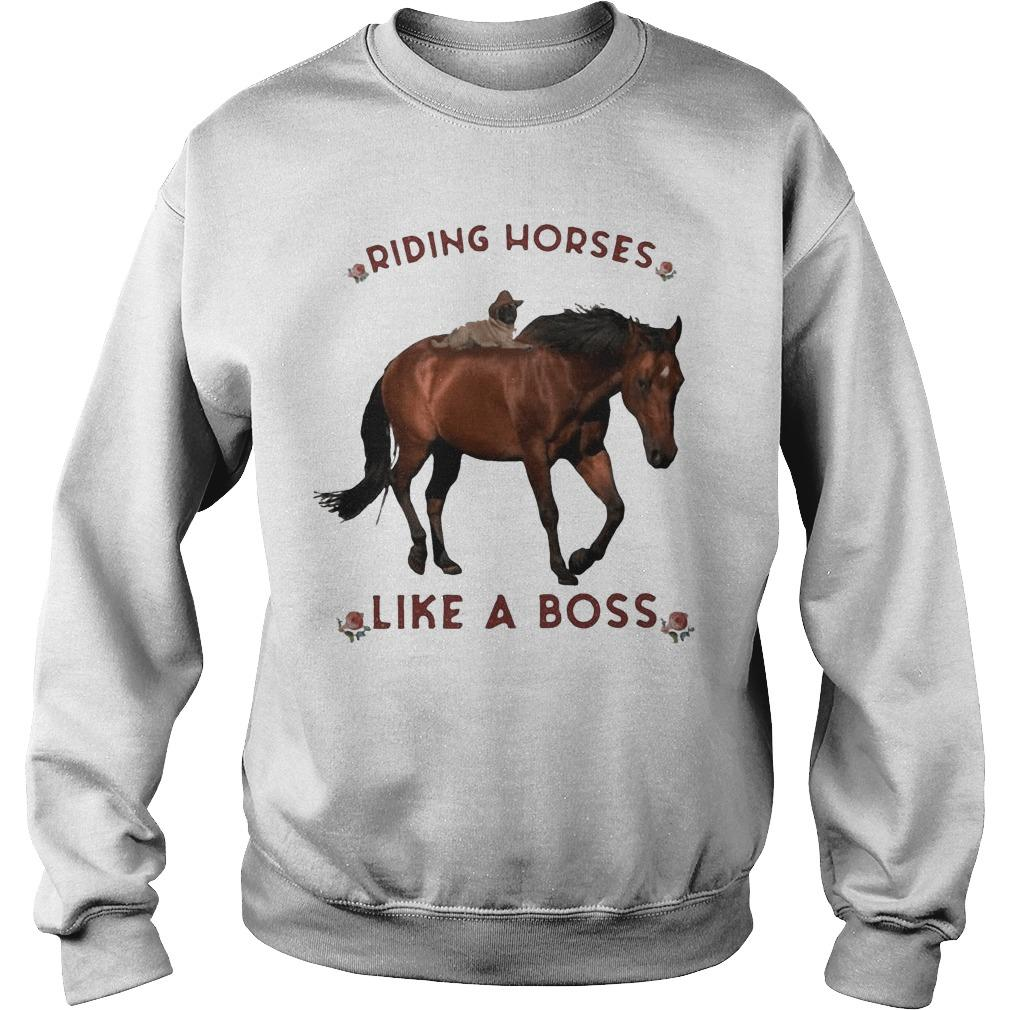 Flowers Riding Horses Like A Boss Sweater