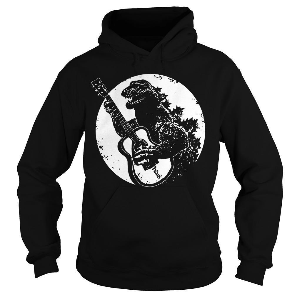 Godzilla Playing Guitar Hoodie