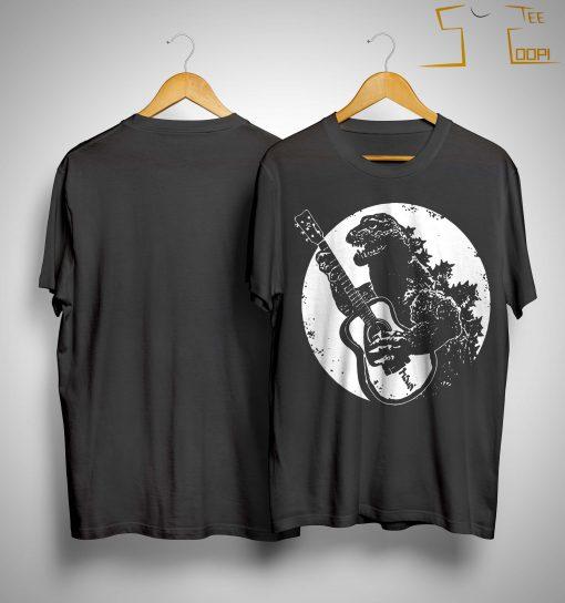 Godzilla Playing Guitar Shirt