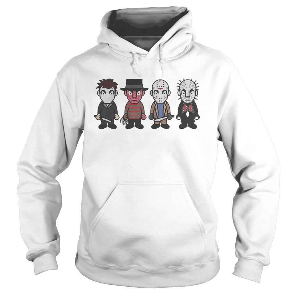 Halloween Horror Characters Cartoon Chibi Hoodie