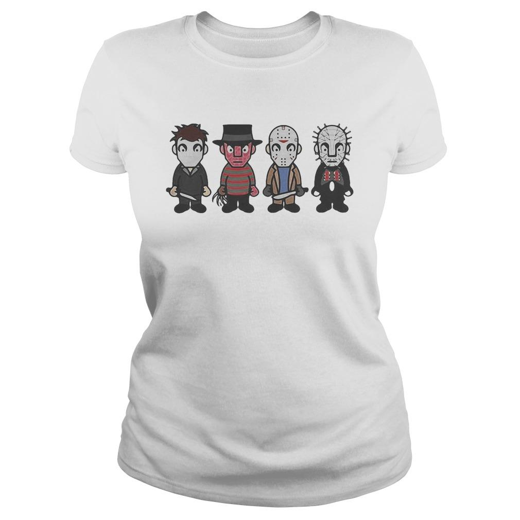 Halloween Horror Characters Cartoon Chibi Sweater