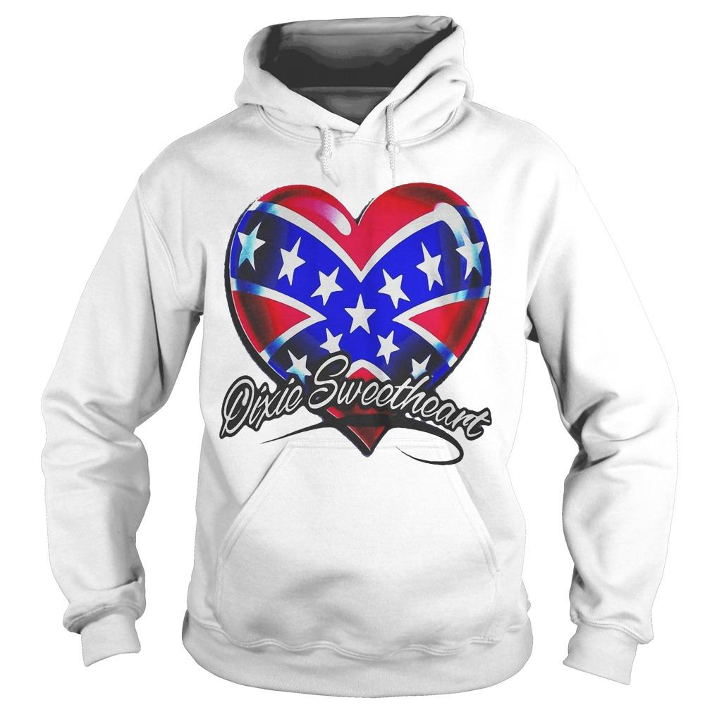 Heart American Happy Independence Day Dixic Sweetheart Hoodie