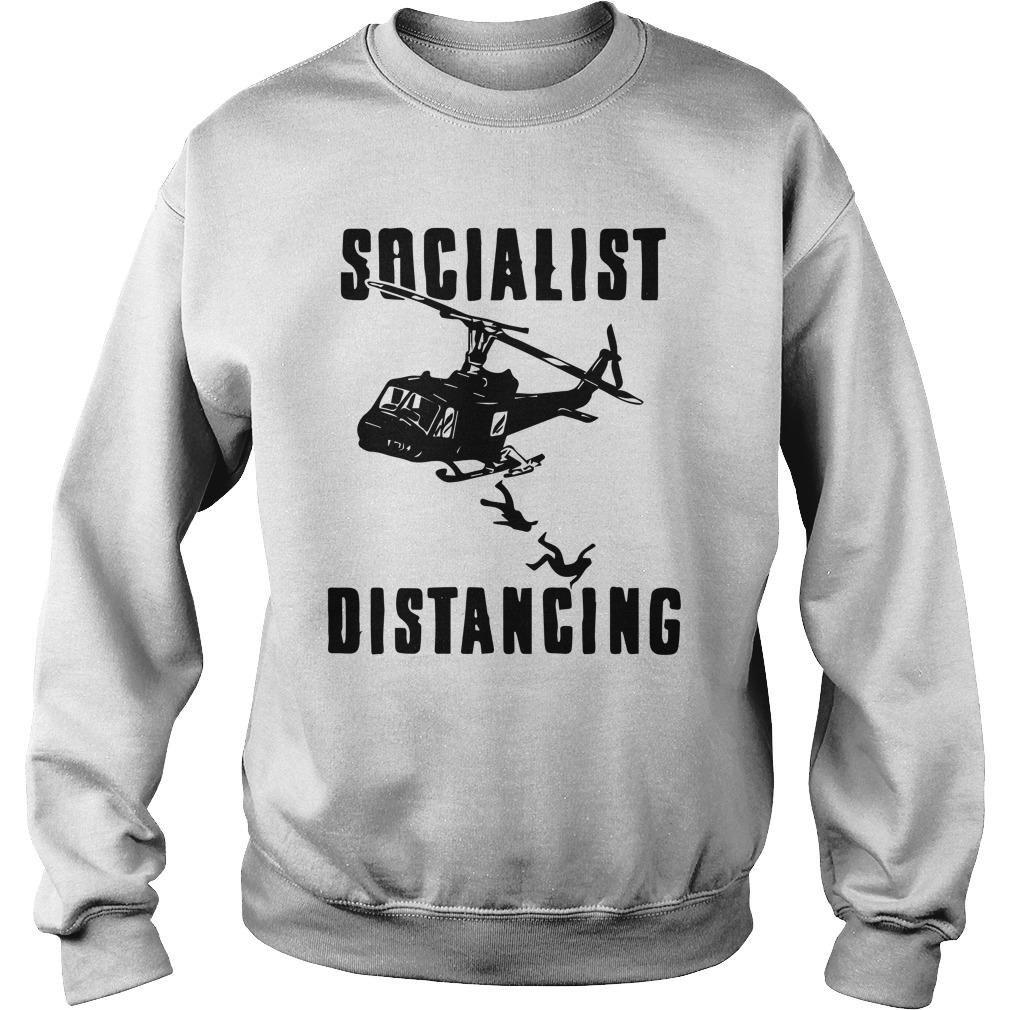 Helicopter Socialist Distancing Sweater