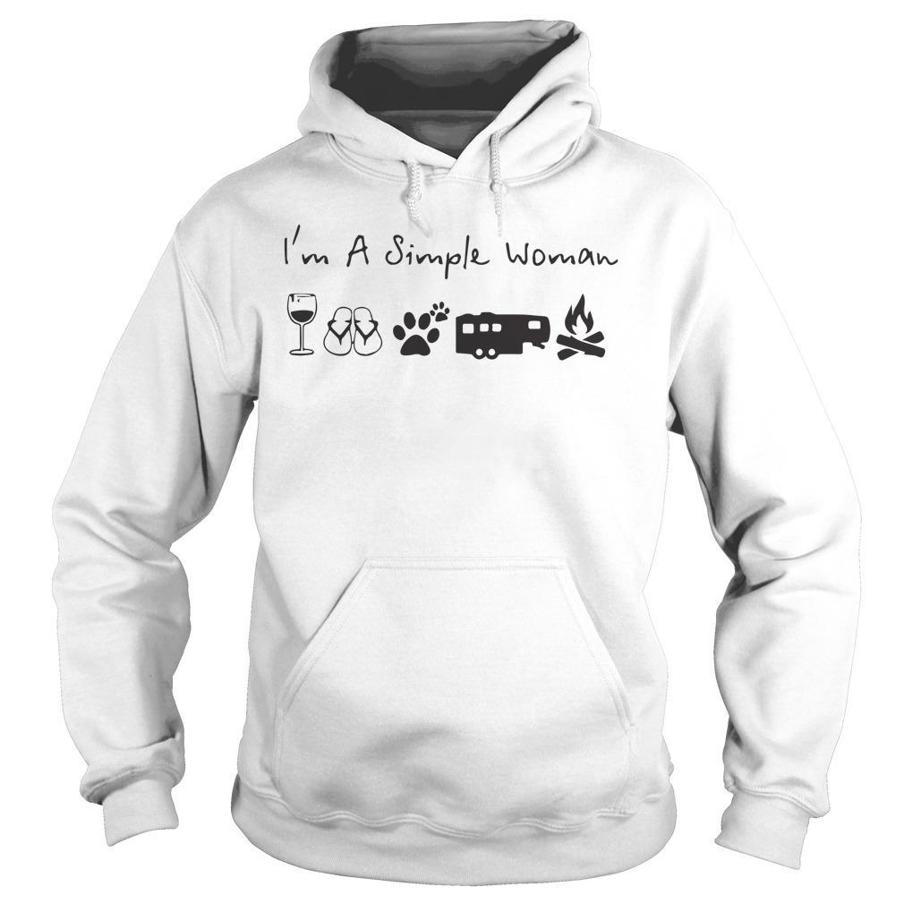 I Am A Simple Woman Like Beer Camping Dog Hoodie