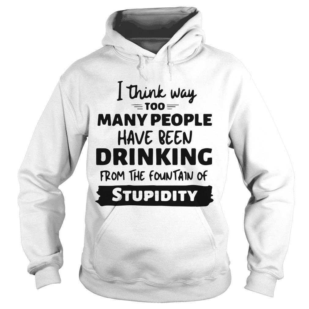 I Think Way Too Many People Have Been Drinking From The Fountain Hoodie