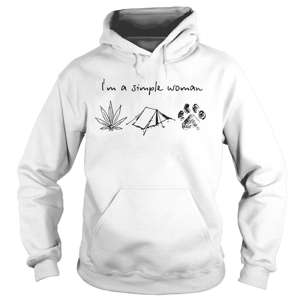 I'm A Simple Woman Like Weed Camping And Dog Hoodie
