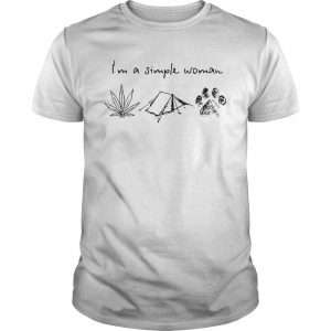 I'm A Simple Woman Like Weed Camping And Dog Shirt