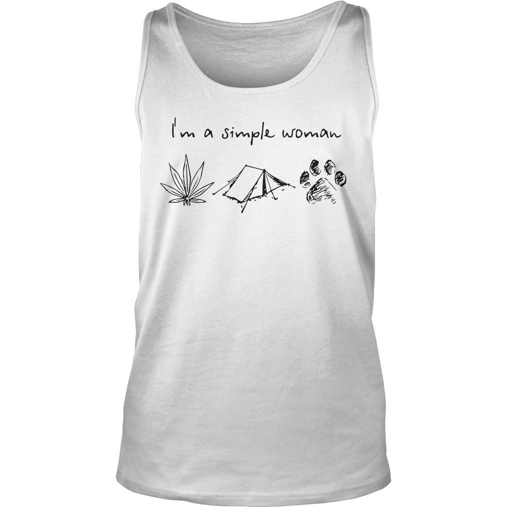 I'm A Simple Woman Like Weed Camping And Dog Tank Top