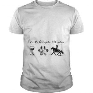 I'm A Simple Woman Like Wine Dog Horse Shirt