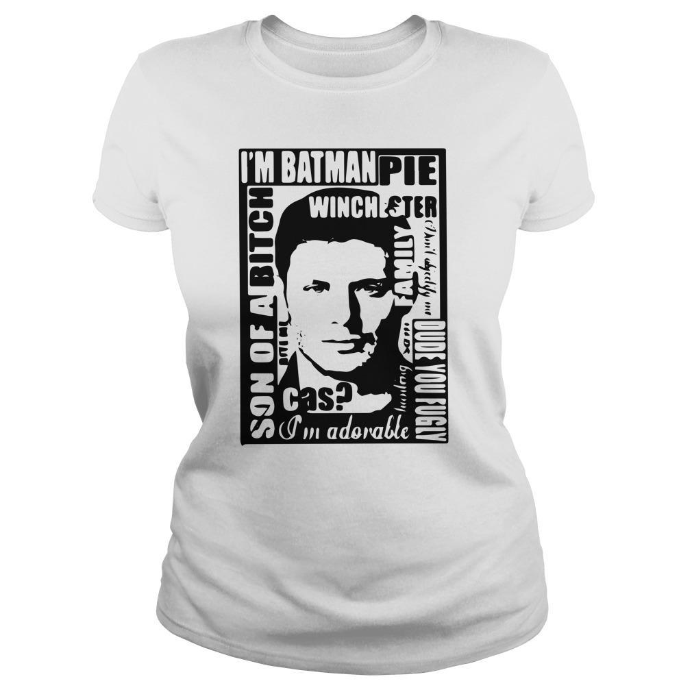 I'm Batman Pie Winchester Son Of A Bitch I'm Adorable Tank Top