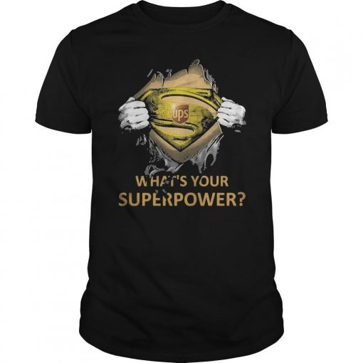 Inside Me Ups What's Your Superpower Shirt