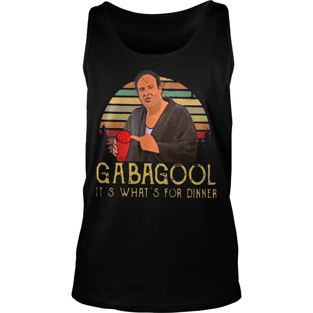 It's What's For Dinner Gabagool Tank Top