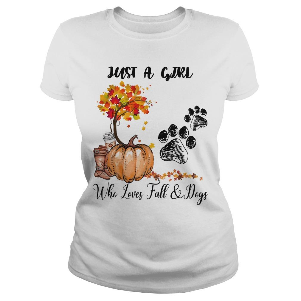 Just A Girl Who Loves Fall And Dogs Longsleeve