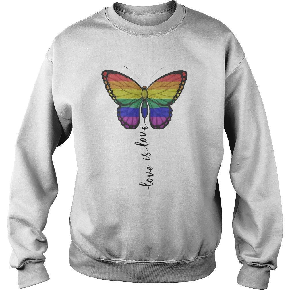 Lgbt Butterfly Love Is Love Sweater