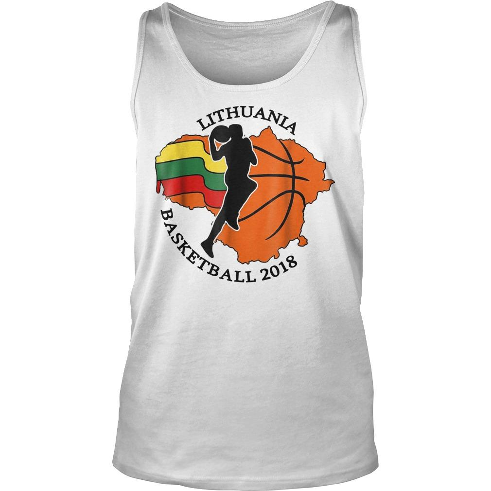 Lithuania Basketball Tank Top