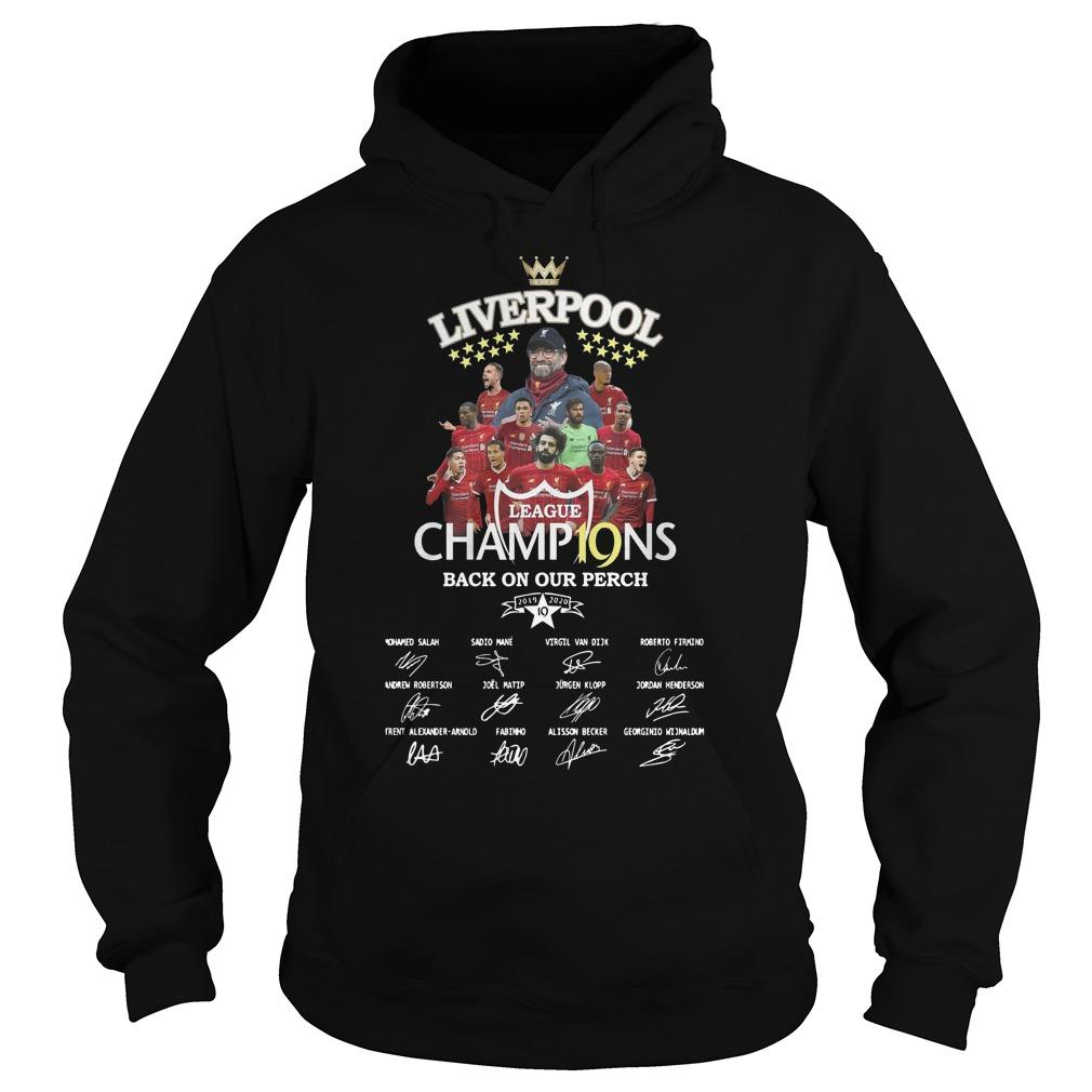 Liverpool Premier League Champ19ns Back On Our Perch Hoodie