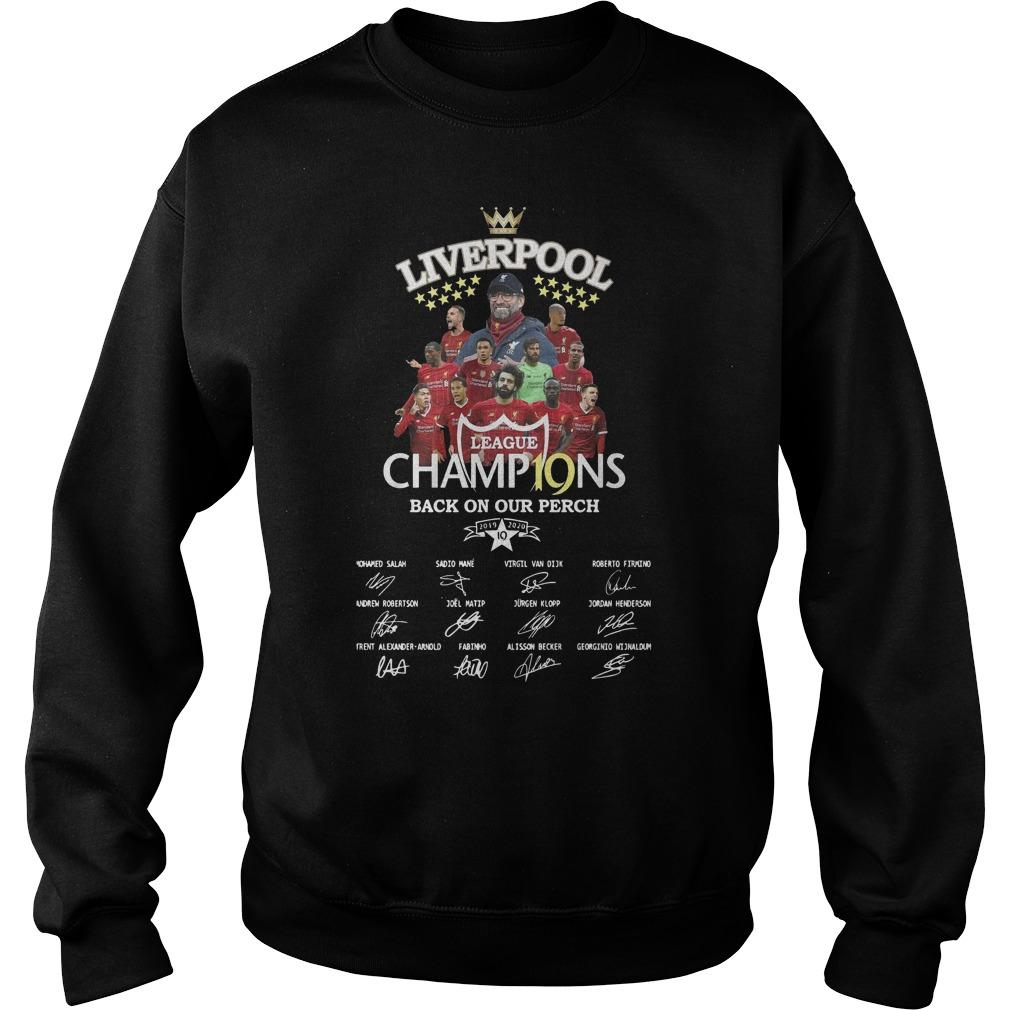 Liverpool Premier League Champ19ns Back On Our Perch Sweater