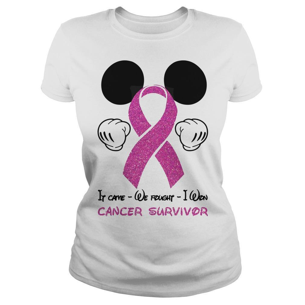 Mickey Mouse It Came We Fought I Won Cancer Survivor Longsleeve
