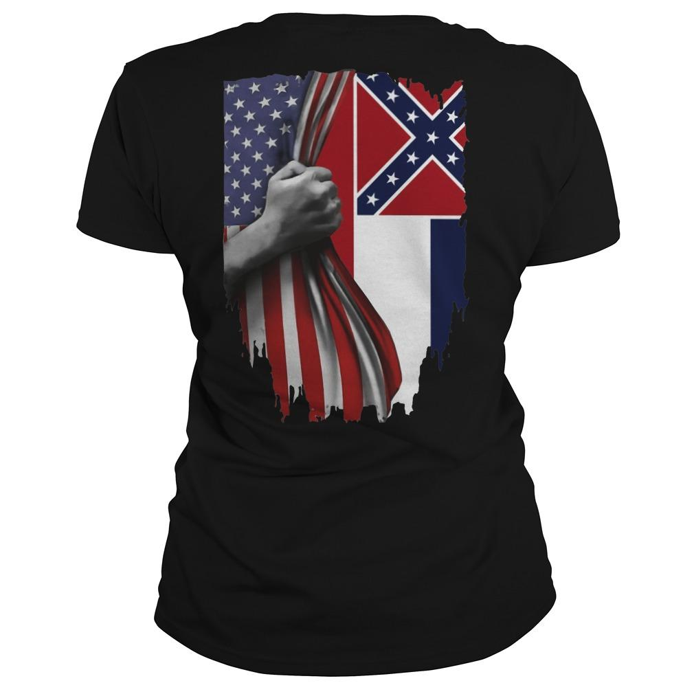 Mississippi And American Flag Longsleeve