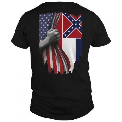 Mississippi And American Flag Shirt