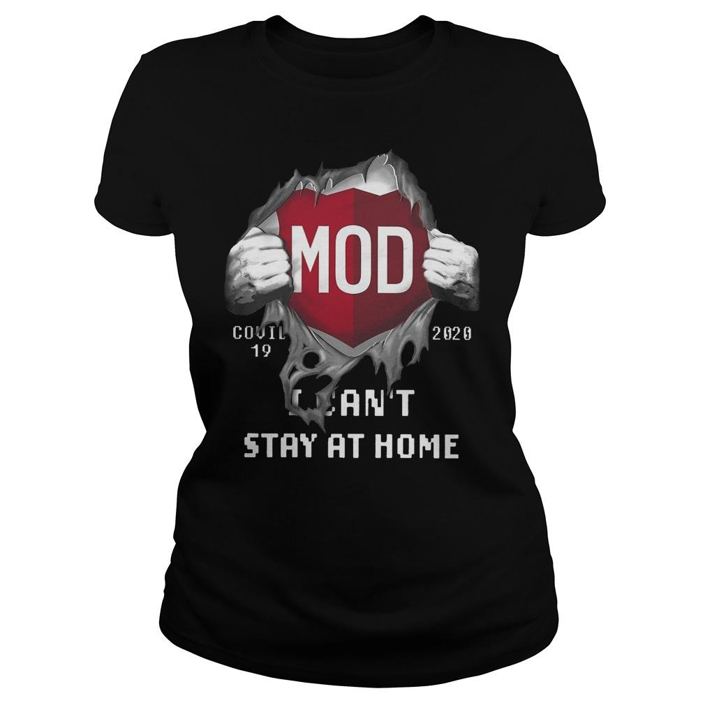 Mod Covid 19 2020 I Can't Stay At Home Hoodie