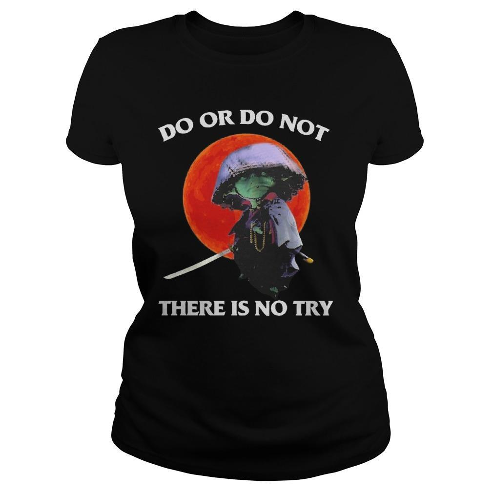 Moon Master Yoda Do Or Do Not There Is No Try Longsleeve