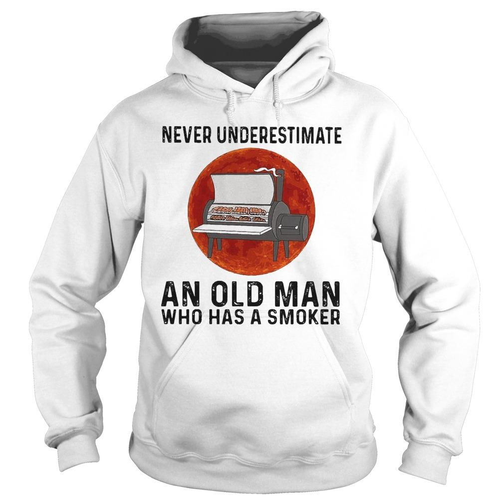 Moon Never Underestimate An Old Man Who Has A Smoker Hoodie