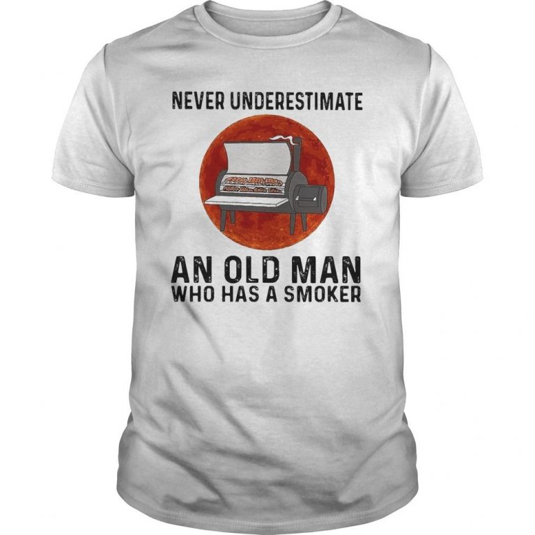 Moon Never Underestimate An Old Man Who Has A Smoker Shirt